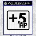 +5 HP Funny JDM Decal Stick Black Vinyl 120x120