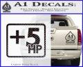 +5 HP Funny JDM Decal Stick Carbon FIber Black Vinyl 120x97