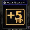 +5 HP Funny JDM Decal Stick Gold Vinyl 120x120