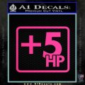 +5 HP Funny JDM Decal Stick Pink Hot Vinyl 120x120