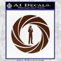 007 Circle Barrel James Bond Decal Sticker BROWN Vinyl 120x120