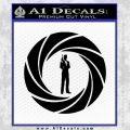 007 Circle Barrel James Bond Decal Sticker Black Vinyl 120x120