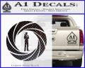 007 Circle Barrel James Bond Decal Sticker Carbon FIber Black Vinyl 120x97