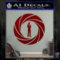 007 Circle Barrel James Bond Decal Sticker DRD Vinyl 120x120