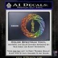 007 Circle Barrel James Bond Decal Sticker Glitter Sparkle 120x120