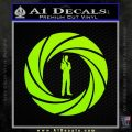 007 Circle Barrel James Bond Decal Sticker Lime Green Vinyl 120x120
