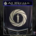 007 Circle Barrel James Bond Decal Sticker Metallic Silver Emblem 120x120