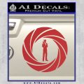 007 Circle Barrel James Bond Decal Sticker Red 120x120
