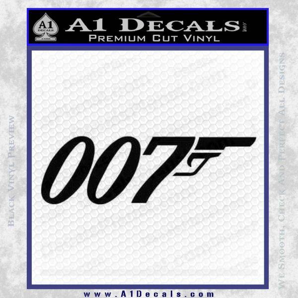 007 Decal Sticker James Bond Official Black Vinyl
