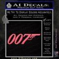 007 Decal Sticker James Bond Official Pink Emblem 120x120