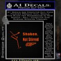007 James Bond Shaken Not Stirred Decal Sticker Orange Emblem 120x120