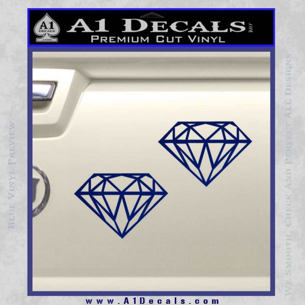 2 Diamonds JDM Decal Sticker Blue Vinyl