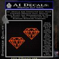 2 Diamonds JDM Decal Sticker Orange Emblem 120x120