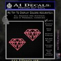 2 Diamonds JDM Decal Sticker Pink Emblem 120x120
