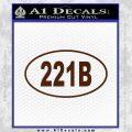 221b Sherlock Holmes Euro Decal Sticker BROWN Vinyl 120x120