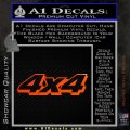 4×4 Off Road Decal Sticker D4 Orange Emblem 120x120