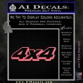 4×4 Off Road Decal Sticker D4 Pink Emblem 120x120