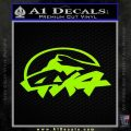 4×4 Off Road Decal Sticker D6 Lime Green Vinyl 120x120