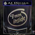 9mm Inside Gun Decal Sticker Carbon FIber Chrome Vinyl 120x120