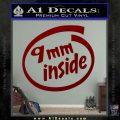 9mm Inside Gun Decal Sticker DRD Vinyl 120x120