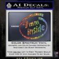 9mm Inside Gun Decal Sticker Glitter Sparkle 120x120
