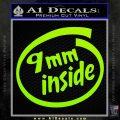 9mm Inside Gun Decal Sticker Lime Green Vinyl 120x120