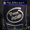 9mm Inside Gun Decal Sticker Metallic Silver Emblem 120x120