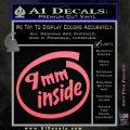 9mm Inside Gun Decal Sticker Pink Emblem 120x120