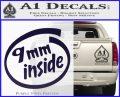 9mm Inside Gun Decal Sticker PurpleEmblem Logo 120x97