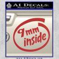 9mm Inside Gun Decal Sticker Red 120x120