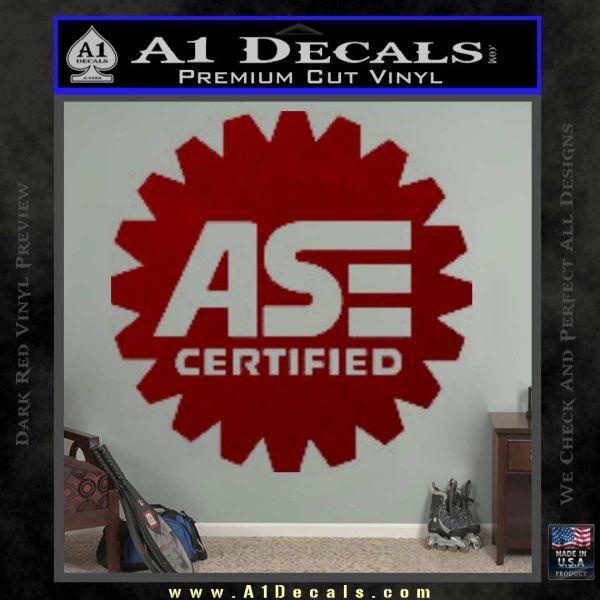 ASE Certified Mechanic Decal Sticker CR DRD Vinyl