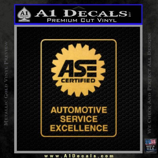 certified mechanic ase sticker decal rt decals gold reddit