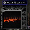 American Infidel Text Decal Sticker Orange Emblem 120x120