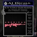 American Infidel Text Decal Sticker Pink Emblem 120x120