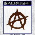 Anarchy Decal Sticker Rough BROWN Vinyl 120x120