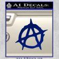Anarchy Decal Sticker Rough Blue Vinyl 120x120