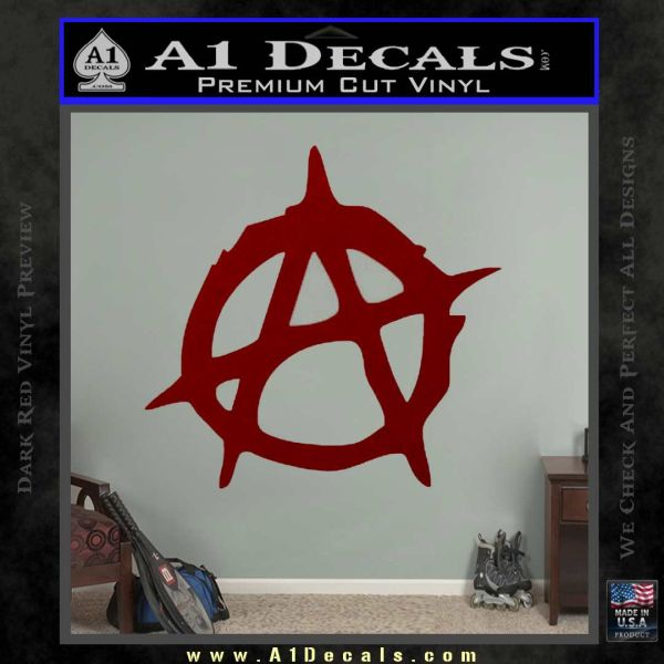 Anarchy Decal Sticker Rough DRD Vinyl