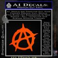 Anarchy Decal Sticker Rough Orange Emblem 120x120