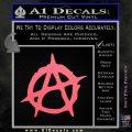 Anarchy Decal Sticker Rough Pink Emblem 120x120