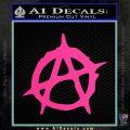 Anarchy Decal Sticker Rough Pink Hot Vinyl 120x120