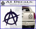 Anarchy Decal Sticker Rough PurpleEmblem Logo 120x97
