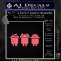 Android Hear Speak Say No Evil Decal Sticker Pink Emblem 120x120