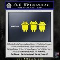 Android Hear Speak Say No Evil Decal Sticker Yellow Laptop 120x120