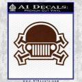Army Jeep Helmet Decal Sticker BROWN Vinyl 120x120