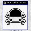 Army Jeep Helmet Decal Sticker Black Vinyl 120x120