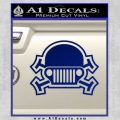 Army Jeep Helmet Decal Sticker Blue Vinyl 120x120