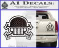 Army Jeep Helmet Decal Sticker Carbon FIber Black Vinyl 120x97
