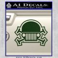 Army Jeep Helmet Decal Sticker Dark Green Vinyl 120x120