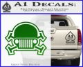Army Jeep Helmet Decal Sticker Green Vinyl Logo 120x97
