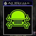 Army Jeep Helmet Decal Sticker Lime Green Vinyl 120x120